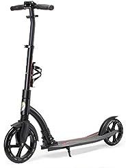 STAR-SCOOTER® Patinete 230mm Premium Big Wheel plegable, para adultos y niños desde aprox. 8 años ★ Ultimate Edition ★ Negro