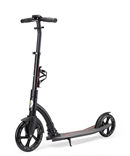 Star-Scooter 230 mm Premium Big Wheel Monopattino Kickscooter Scooter da città richiudibile per adulti e ragazzi da ca. 8 anni d'età ★ Ultimate Edition ★ Nero