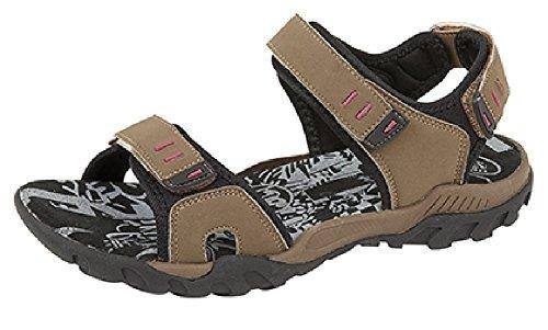 Femmes PDQ Rose Gris Aventure Randonnée Marche Sport Velcro Sandales Pointure 4 5 6 7 8 Taupe