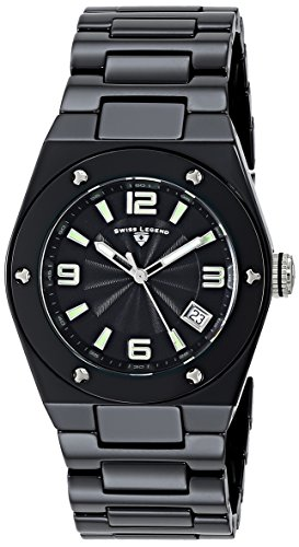 Swiss Legend Women's 10054-BKBTSA Throttle Analog Display Swiss Quartz Black Watch