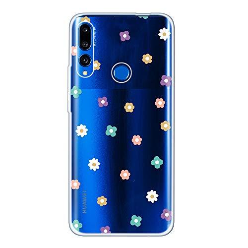 Miagon Klar Hülle für Huawei Honor 20 Lite,Kreativ Silikon Case Ultra Schlank Transparente Weich Handyhülle Anti-Kratzer Stoßfest Schutzhülle,Bunt Blume