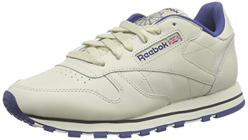 Reebok Classic Leather, Herren Sneakers, Beige (Ecru/Navy), 36