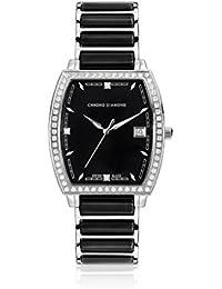 Chrono Diamond 82060 - Reloj para mujeres, correa de metal color negro