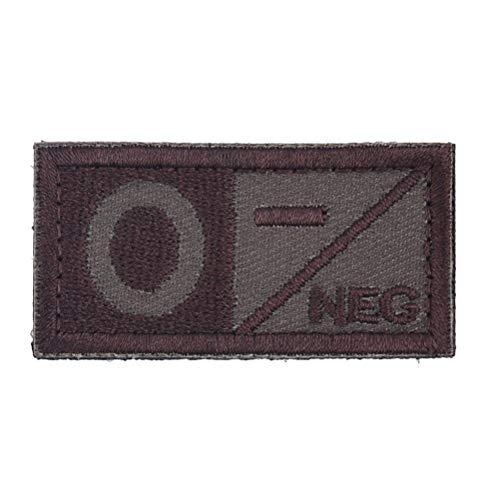 tiv NEG A + B + AB + O + Positiv POS Blutgruppengruppen-Patch Taktische Moralabzeichen Militärische Gummi-Patches ()