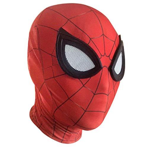 XWQXX Spider-Man Gesichtsmaske Halloween Kostüm Party Tuch Party Maske Kapuze für Rollenspiel Kostüm A One Size Mask,D-OneSize