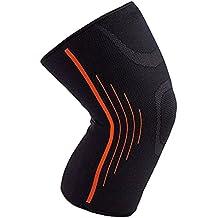 Rodillera de compresión de Senston para correr,Crossfit,Halterofilia,Sentadillas profundas.Knee Brace Manga de compresión de rodilla,prevención de lesiones de rodilla,alivio de dolor articular.Unisex.Single