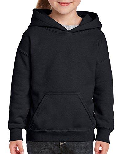 Gildan Big Kids Hooded Youth Sweatshirt, Black, Large 50 Youth Hoodie