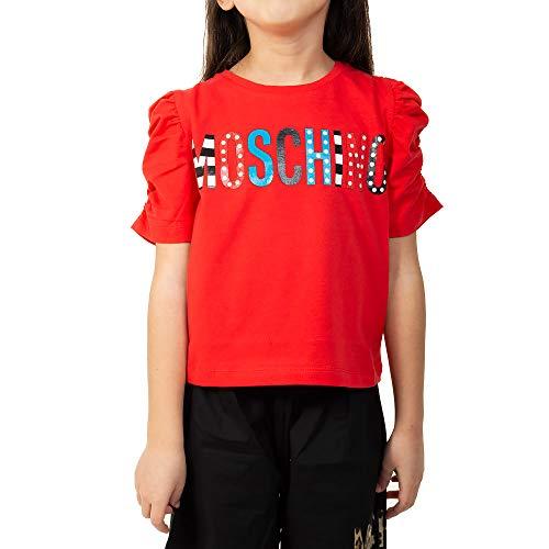 5fb4f158af24b Moschino T-Shirt Bambina Stampa Logo Multicolor. Taglie da 4 a 8 Anni.  Colore Ro
