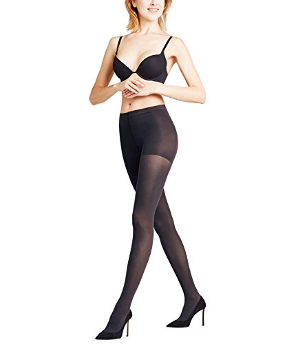 FALKE Damen Strumpfhosen Shaping Panty 50 DEN, Semi-Blickdicht, Matt, 1 Stück, Schwarz (Black 3009), Größe: L