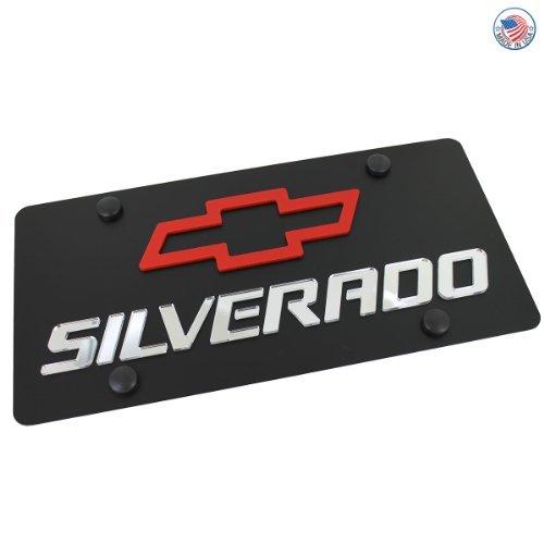 chevrolet-silverado-license-plate-on-black-steel-by-chevrolet