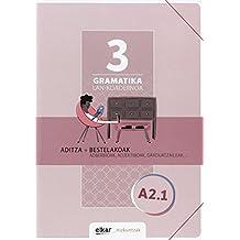 Gramatika. Lan-koadernoa 3 (A2-1): Aditza + Bestelakoak (Hizkuntzak)
