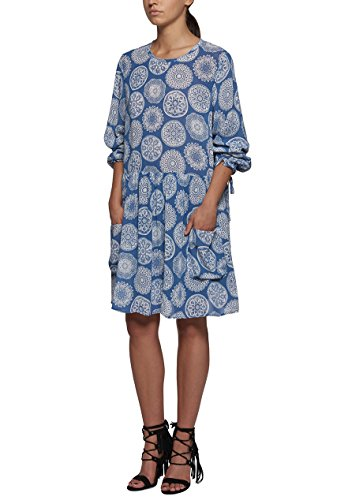 Replay - Robe - Trapèze - Manches Longues - Femme SUGARPAPER BLUE/WHITE