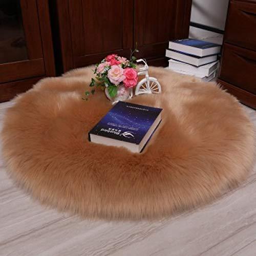 Einfache wohnzimmer nachahmung wolle teppich matte runde plüschmatte schlafzimmer schlafsofa khaki runde durchmesser 100 cm