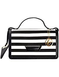 Shopclans Black & White Color Shoulder Bag For Girls / Women's (SPC-016)