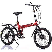 LETFF Bicicleta Plegable para Adultos de 20 Pulgadas para niños y niñas Que cambian de Bicicleta