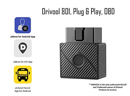 Drivool 801 OBDII GPS tracker, Plug and Play Tracking Device with Software/Web App subscription.