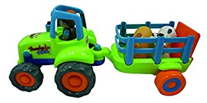 CLAUDIO REIG Tractor Preescolar con Luces y Sonidos, 38 x 16 x 17 cm (9821)