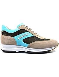 CRISTIANO GUALTIERI 458TX Taupe Celeste Sneakers Scarpe Uomo Casual EST 18 18e9866dddb