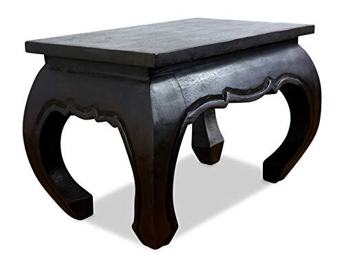 Asiatische Wohnzimmer Beistelltisch (livasia Opiumtisch 60x40x40cm, schwarz, aus Massivholz, Beistelltisch, asiatischer Holztisch BZW. Nachttisch)
