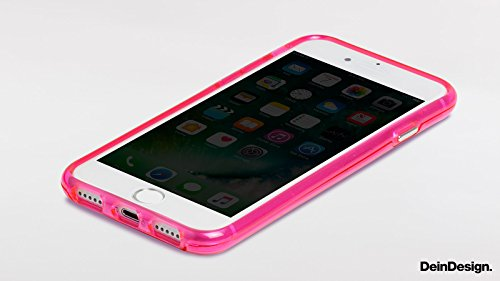 Apple iPhone 6s Bumper Hülle Bumper Case Glitzer Hülle Retro 80s 80er Bumper Case transparent pink