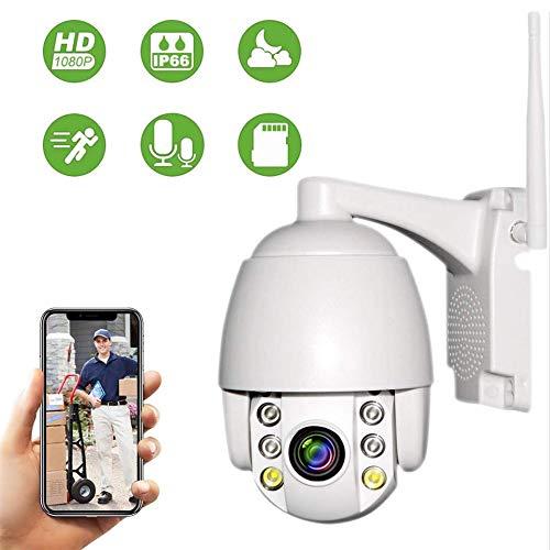 PTZ Dôme Caméra de Surveillance WiFi Extérieure Aottom 1080P Caméra de sécurité WiFi, Caméra IP...