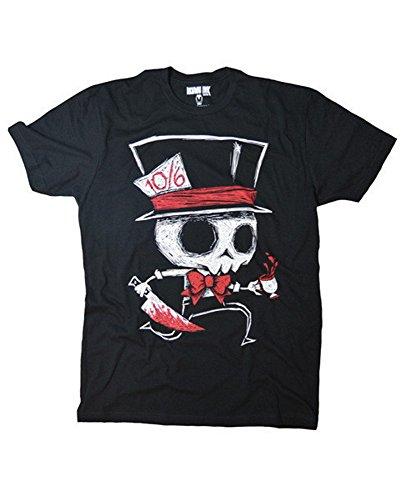 -Shirt - Insatiable Frenzy Mad Hatter (Schwarz) (S-XL) (XL) ()