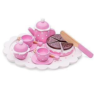 New Classic Toys Toys-10620 10620 rol (Cocina y Comida, Estuche de Juego, 2 año(s), Niño, Chica, Rosa, Blanco), Color Madera
