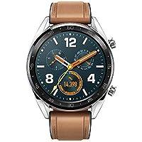 Huawei Watch GT Montre Connectée avec écran AMOLED tactile 1,39 pouces (GPS intégré - Android) Marron