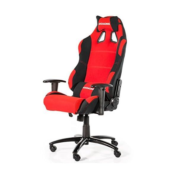 AKRacing Prime – AK-7018-BR – Silla Gaming, Color Negro/Rojo
