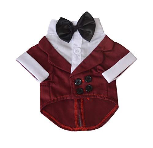 Cute Pet Kostüm - Midsy Welpen mit Fliege Kostüme Moderne Cute Kleidung Pet Party Kleidung Atmungsaktiv Dünne Wintermäntel Comfort Fit Kapuzenpullover