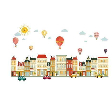 Luftballon Gebäude Aufkleber Kinderzimmer Kinderzimmer Dekoration Wandtattoos 50 * 70 cm Dekoration Supplier50 * 70 cm (Größe Luftballons Leben)