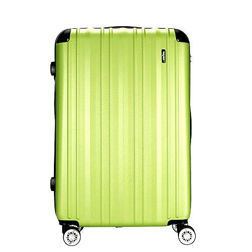 Sunydeal Maleta Rígida,Maleta Grande,Equipaje,Candado TSA,101L,75cm,4 Ruedas multidireccional,Verde claro