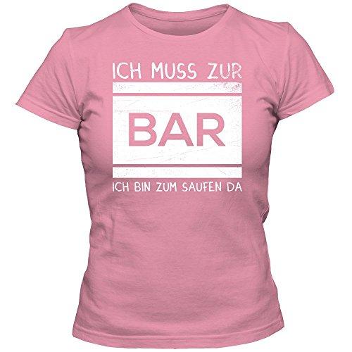 JGA #3 Bar T-Shirt   Junggesellinnenabschied   Damen   Braut   Bachelorette   Feiern   Party   Alkohol   Saufen © Shirt Happenz Pink (Orchid Pink L191)