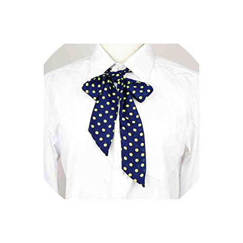 Chiffon Lithe Ribbons Diy Butterfly Dot Striped Chic Handiness Simple Shirt Accessory Women Knot Bowtie,7 -