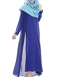 hibote túnicas árabes musulmanes las mujeres oriente medio vestido de gasa de manga larga ...