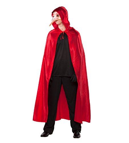 Kostüm Männliche Venezianische - Fyasa 706280-t04-gran Tief venezianischen Cape Kostüm, Größe L, rot