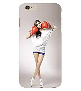 Fuson 3D Printed Cool Girl Wallpaper Designer Back Case Cover for Apple iPhone 6S Plus - D745