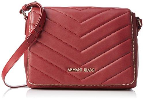 Armani - 9221596A718, Borsa a tracolla Donna Rosso (Rot (BORDEAUX 00176))
