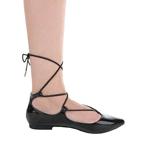 Ital-Design, Ballerine donna Schwarz XY01
