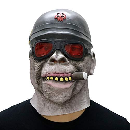 Wawer Cosplay Maske Nonne Maske Gorilla AFFE Gesicht -