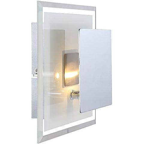 5Watt LED parete lampada in vetro satinato