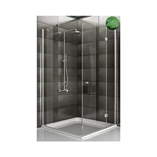 Corner Entry Shower Enclosure with Nano Coating 900X90X195 Tempered Left and Right
