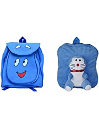 Pratham Enterprises Combo Of Blue Smile Bag And Blue FULL DORDO Soft Toy Bag ( Pack Of 2 )