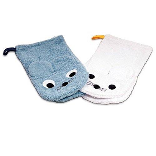 /… Qav Juh absorbant Mousseline de coton b/éb/é Serviette de Visage Animal Lot de 6 30 x 30 cm r/éutilisables Lingettes de bain Gant de toilette avec crochets pour les peaux sensibles