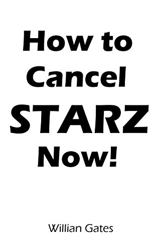 How to cancel starz subscription
