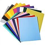 DEHAO 20pcs Heat Transfer Transferpapier 20x30cm Vinylfolien Vinyl Transferfolie für DIY T-Shirt, Buchstaben, Aufkleber, Schilder