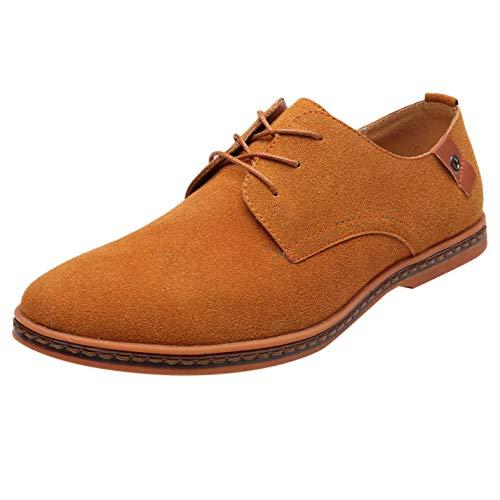 B-commerce Männer Business Schuhe - Mode Lässig Feste Schnürschuhe Oxfords Leder Leichte Arbeitsschuhe Männliche Formale Freizeit Trend Schuhe ()