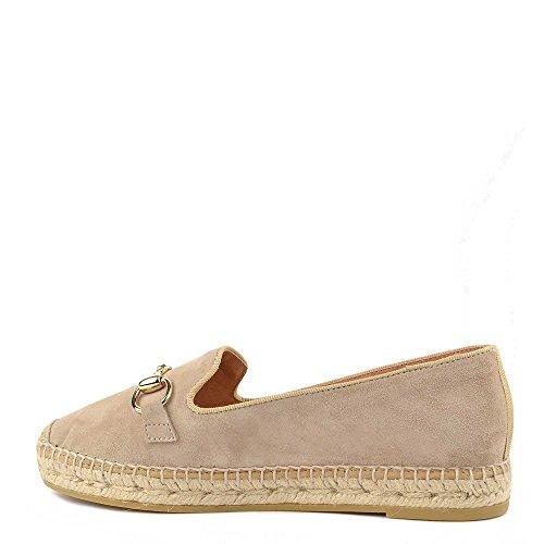 Kanna Chaussures Dora Espadrilles Taupe Femme Taupe