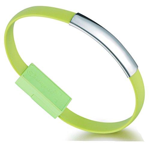 Unendlich U Super Stylisch Lightning USB Armband Ladekabel Datenkabel Kabel für Apple iPhone 5/5s/5c/6/6s/6 Plus/6s Plus, iPod und iPad mit Lightning Anschluss-6 Farbenoptionen Apple Green Armband