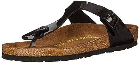 Birkenstock Women's GIzeh Thong Sandal, Black Patent, 36 N EU/5-5.5 2A(N) US